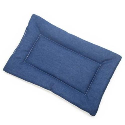 Blue Denim Fabric Flat Pet Bed