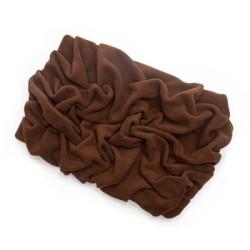 Brown Solid Fleece Fabric Blanket Pet Bed