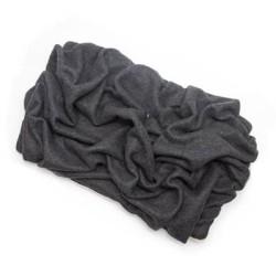 Charcoal Gray Solid Fleece Fabric Blanket Pet Bed