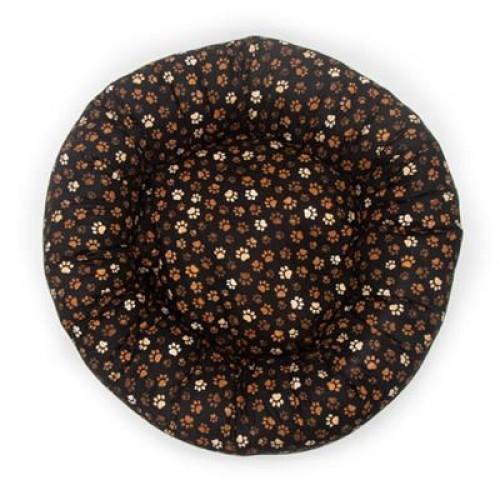 Muddy Paw Cotton Fabric Round Pet Bed