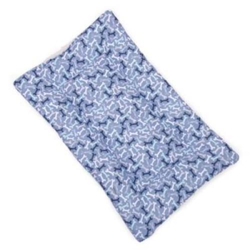 Poochie McGruff Bones Cotton Fabric Flat Pet Bed
