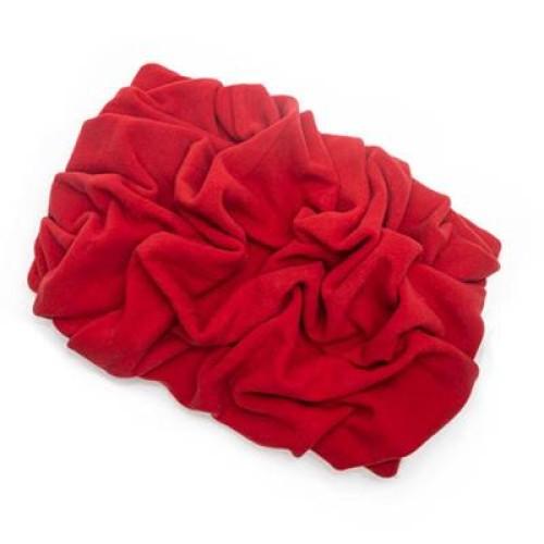 Red Solid Fleece Fabric Blanket Pet Bed