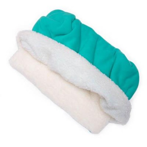 Teal Solid Fleece Fabric Pocket Pet Bed