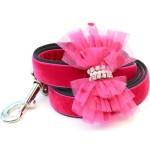 Bardot Pink Velvet Dog Leash