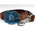Camellia Velvet Collection - Blue Step In Harnesses All Metal Buckles
