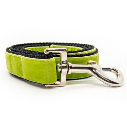 Classic Velvet Dog Leash - Kiwi Green