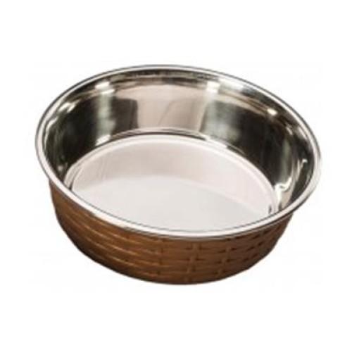 Ethical Soho Basket Weave Dish Copper 15oz