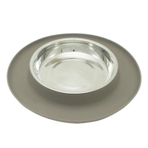 Messy Mutts Cat Feeder Silicone Grey