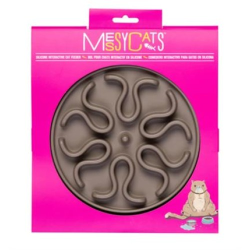 Messy Mutts Cat Silicone Interactive Feeder Large