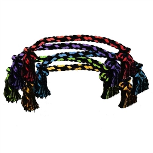 """Multipet Nuts For Knots 2 Knot Jumbo Rope (Assorted Colors) 48"""""""