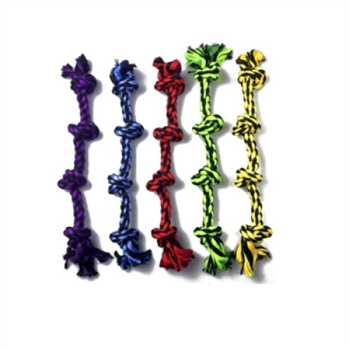 """Multipet Nuts For Knots 4 Knot Rope (Assorted Colors) 25"""""""